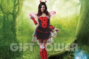 W-0052  Sexy Ladybug Dress