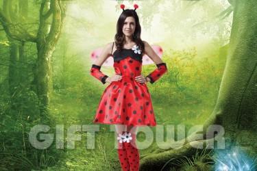 W-0058  Pretty Ladybug Dress