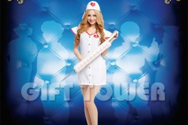 W-0158  Sexy Nurse Costume