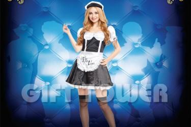 W-0181  Fancy French Maid Costume