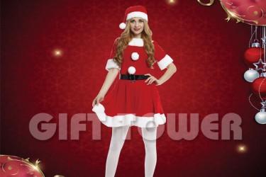 X-0009  Pretty Ms. Santa