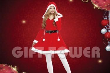 X-0011  Pretty Ms. Santa