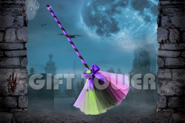 H-0077A   26″Witch's Broom – Mixed Color