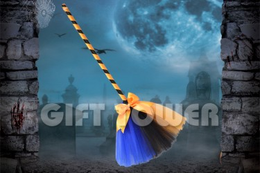 H-0077B   26″Witch's Broom – Mixed Color