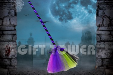 H-0078A   42″Witch's Broom – Mixed Color