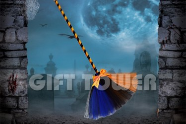 H-0078B   42″Witch's Broom – Mixed Color
