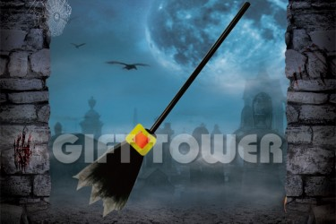 H-0079A   26″Witch's Broom – Solid Color