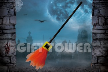 H-0079C   26″Witch's Broom – Solid Color