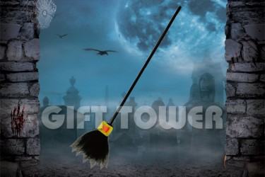H-0080A   42″Witch's Broom – Solid Color