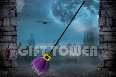 H-0080B   42″Witch's Broom – Solid Color