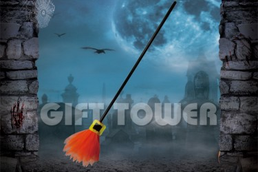 H-0080C   42″Witch's Broom – Solid Color