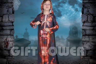 B-0175     Red Skeleton Robe