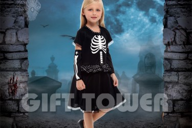 G-0293     Black Skeleton Dress