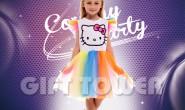 G-0297  Rainbow Kitty Girl