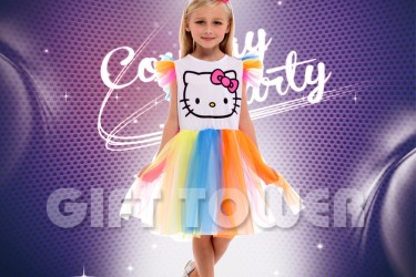 G-0297     Rainbow Kitty Girl